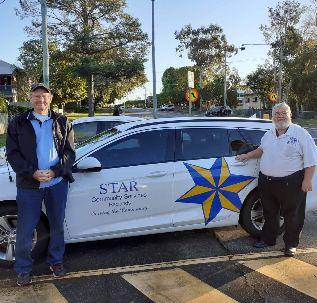 Rob Spencer Star and Paul Barnes from RDCOTA with Star safety car